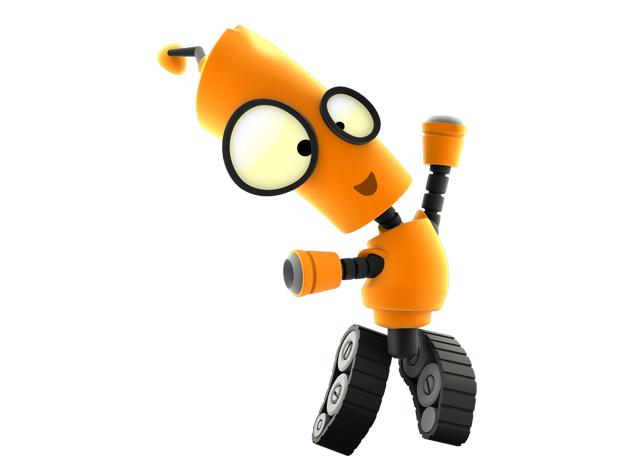 картинка робота робика установка благодаря крепежным