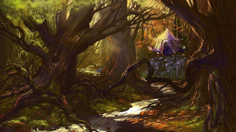 осенний лес | 2d художник