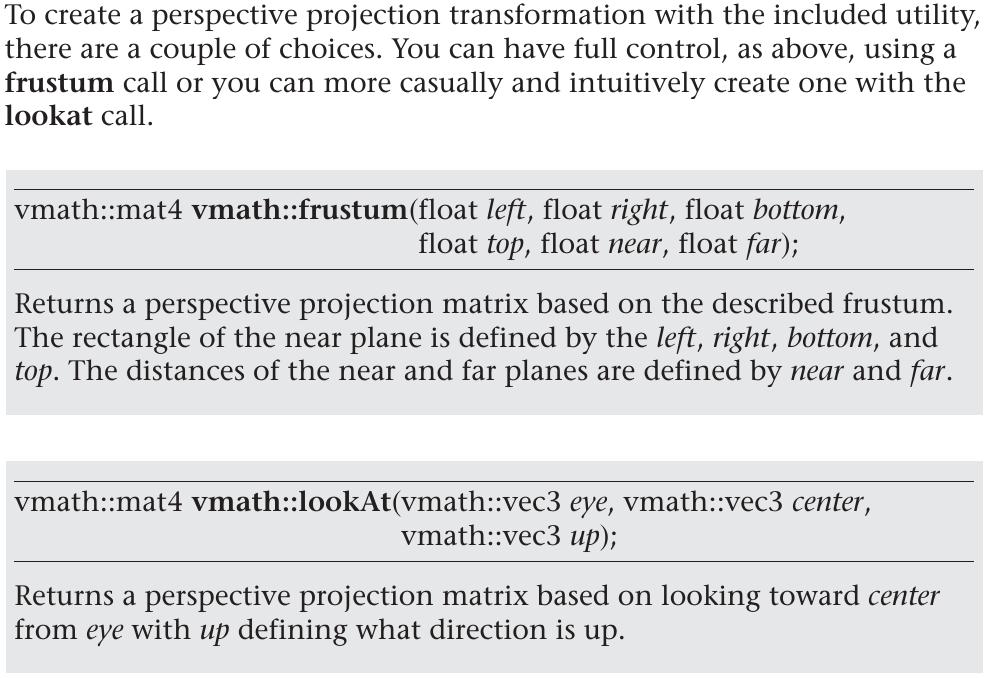 Frustrum, lookAt, perspective projection matrix | Матрица вида и матрица проекции. Фокус