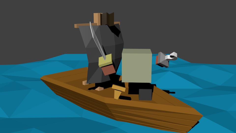 Пират | Простые модельки из нескольких кубиков