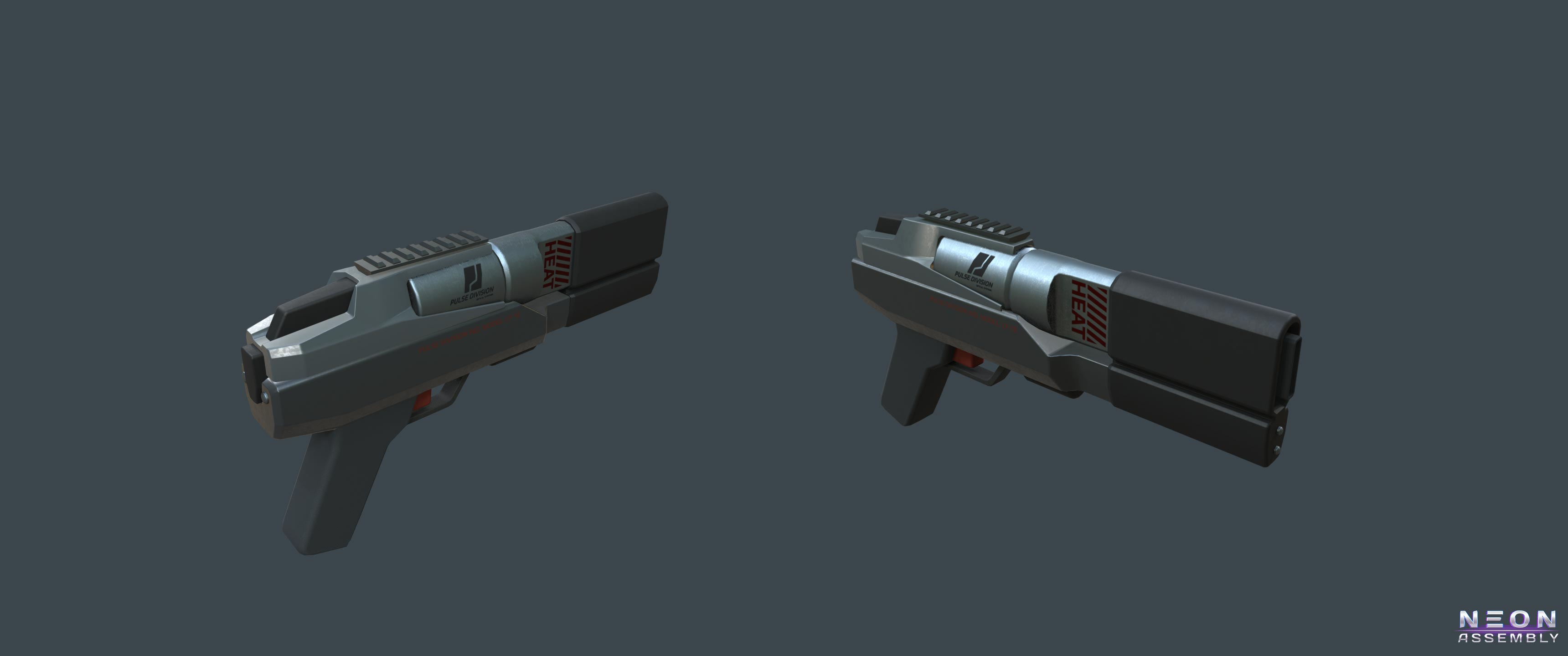NA Laser pistol | NEON ASSEMBLY. A competetive multiplayer turn based tactics game.