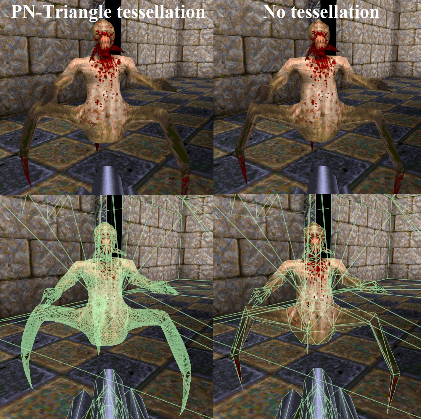 PN-Triangle tessellation   Angie Engine