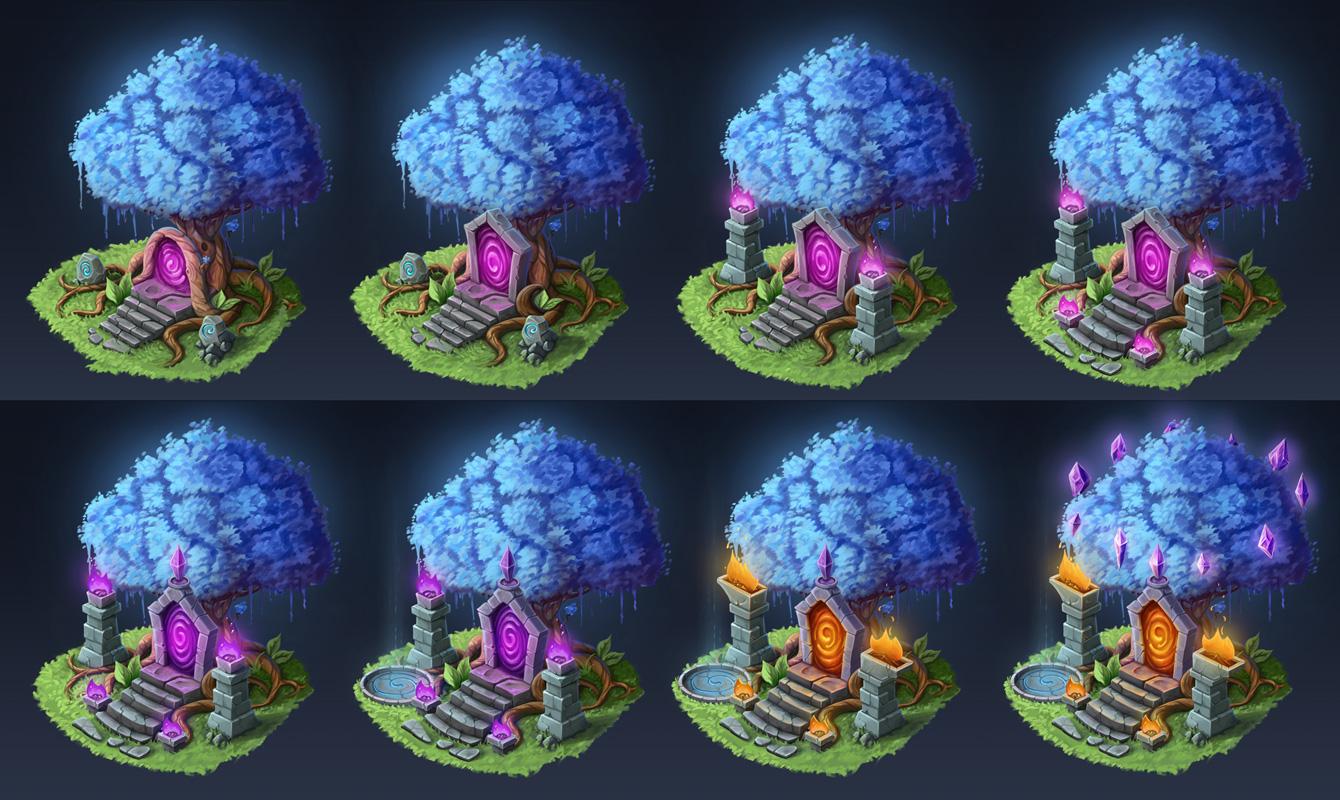 Portal-tree | [2D] Художник (environment, локации, карты, пропсы)
