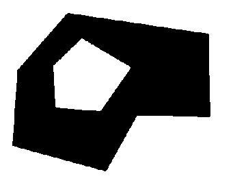 вогнутый полигон с дыркой
