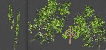 три дерева в unity неправильно сортируются