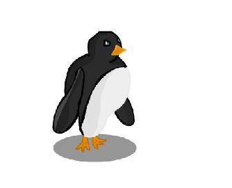 покатит пингвин