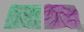 Зависимый меш | Создание моделей ландшафтов