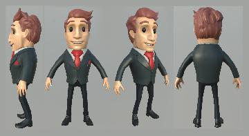 Мультяшный бизнесмен