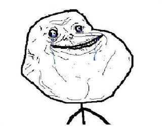 forever alone face
