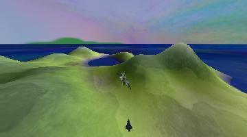 Dead Loop - самолет над ландшафтом без освещения