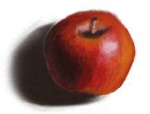 скетч яблоко