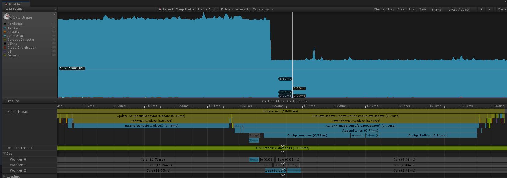 profiler2 | [Unity3D] Делаем нормальный инструментарий для линий без трололо и бесплатно.
