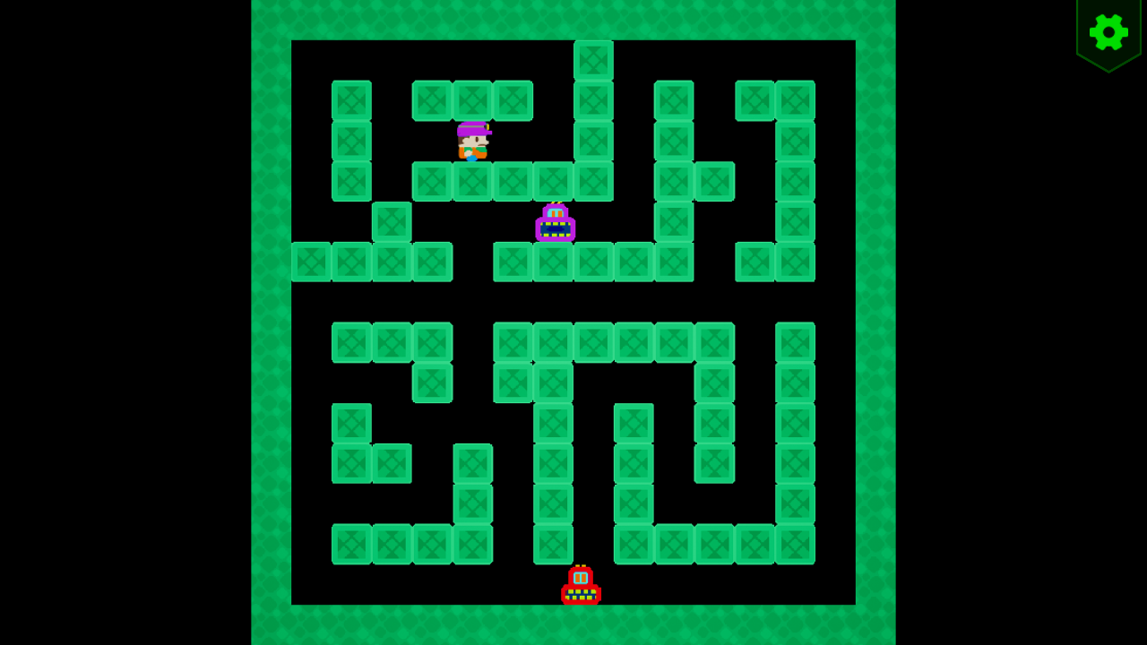 Screenshot 01 | Sokopango - аркада, улучшенный клон старой игры Pango для ДОС/Агат-9