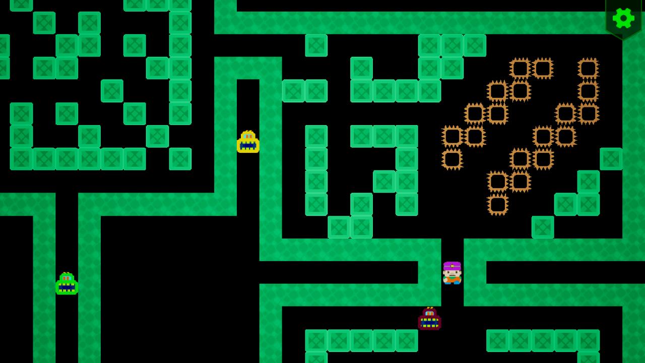 Screenshot 02 | Sokopango - аркада, улучшенный клон старой игры Pango для ДОС/Агат-9