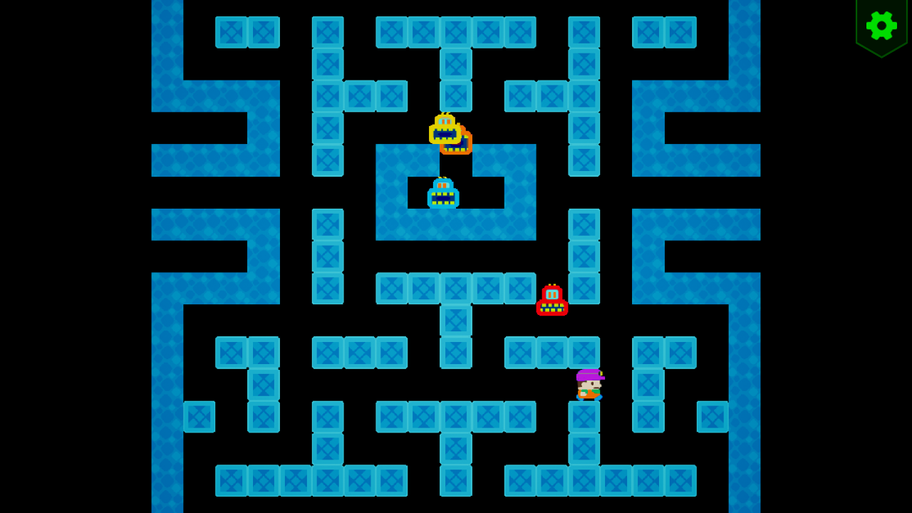 Screenshot 07 | Sokopango - аркада, улучшенный клон старой игры Pango для ДОС/Агат-9
