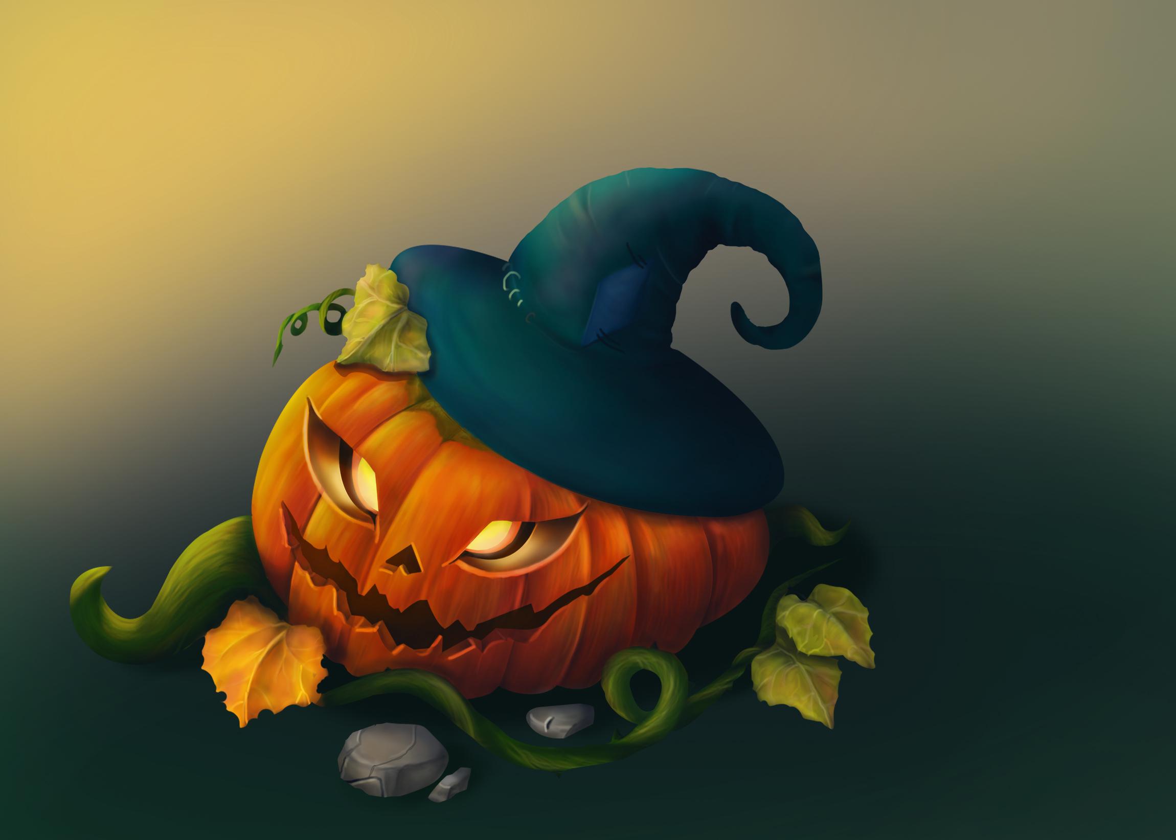 pumpkin 2   2D Casual ,Environment concept art, очень нужна оценка и мнение