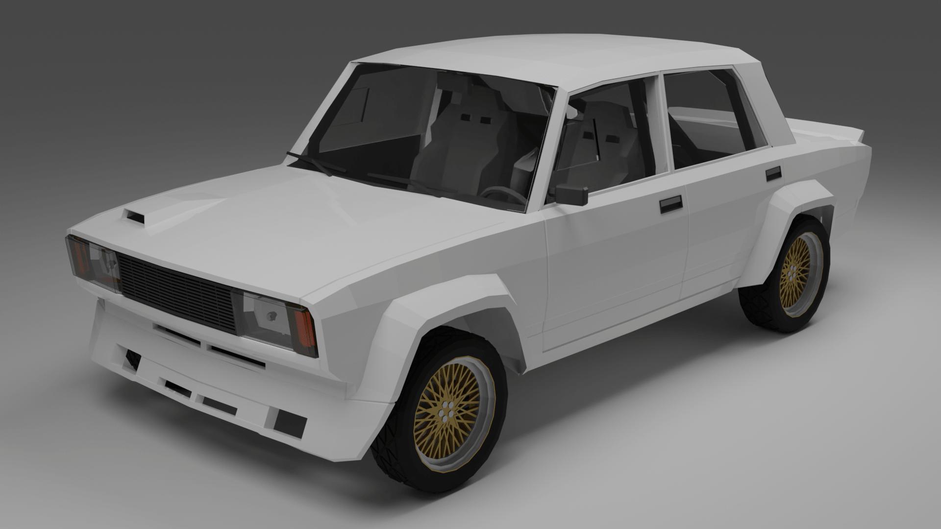 Lada VFTS Low-poly | 3D моделлер, ищу разовые заказы/команду инди разработчиков