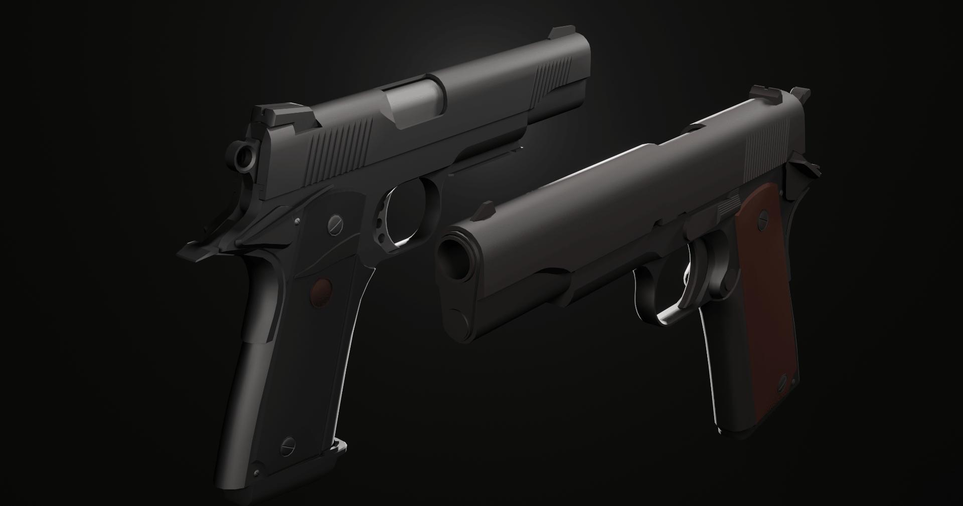 Colt M1911/MEUSOC M45 | 3D моделлер, ищу разовые заказы/команду инди разработчиков