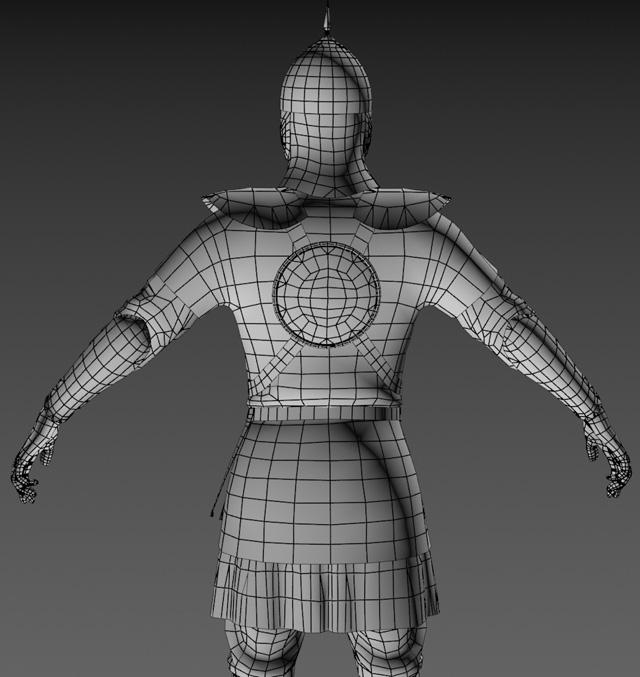 Ratik_Wire_Back | 3D модель ратника.