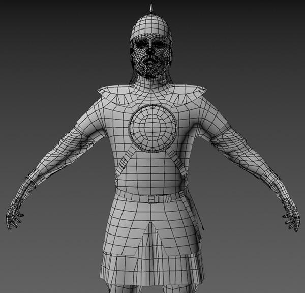 Ratik_wire_Front | 3D модель ратника.