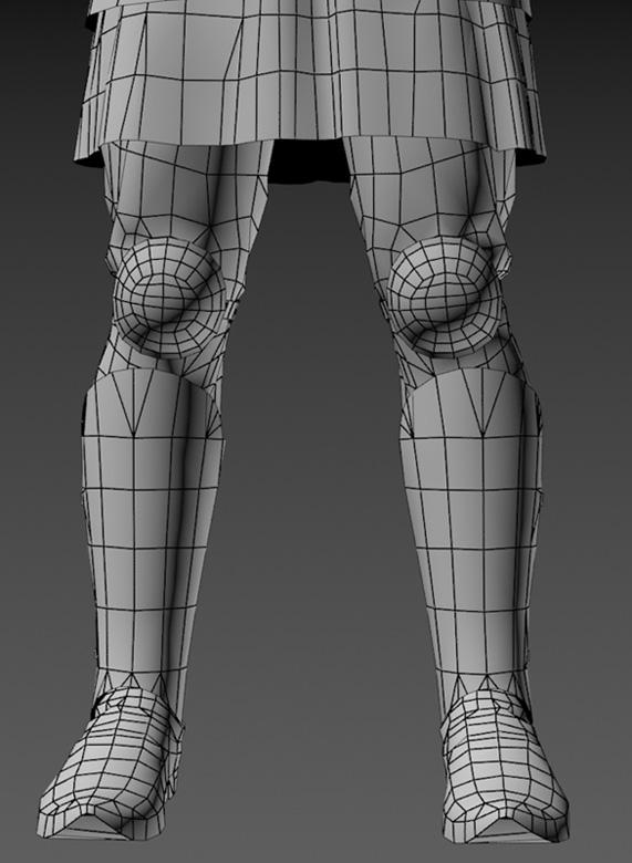 Ratik_Wire_Legs_Front | 3D модель ратника.