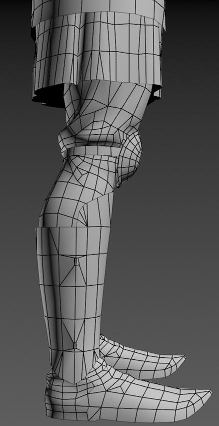 Ratik_Wire_Legs_side | 3D модель ратника.