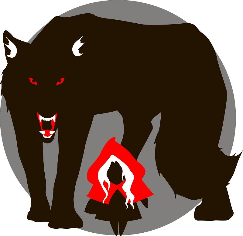 Красная шапочка и большой злой волк | Tamagocha рисует