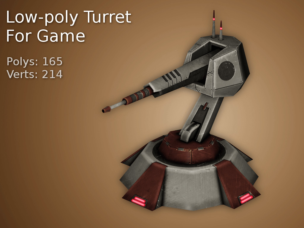 LowPoly Turret
