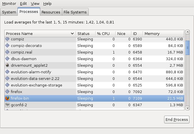 Screenshot-System Monitor