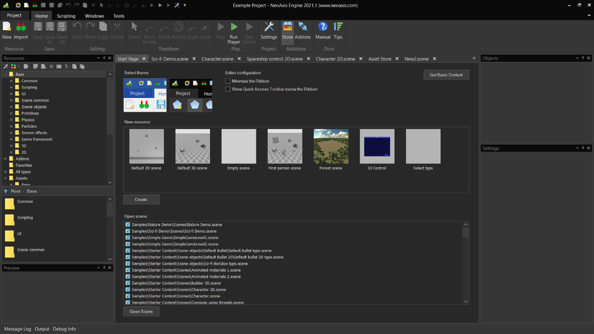 NeoAxis   Вышел NeoAxis Engine 2021.1
