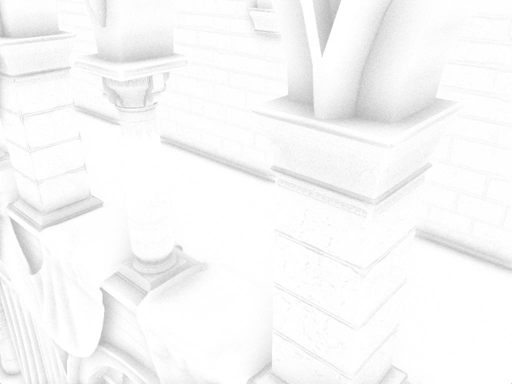 ao-result | Screen space ambient occlusion с учетом нормалей и расчет одного отражения света.
