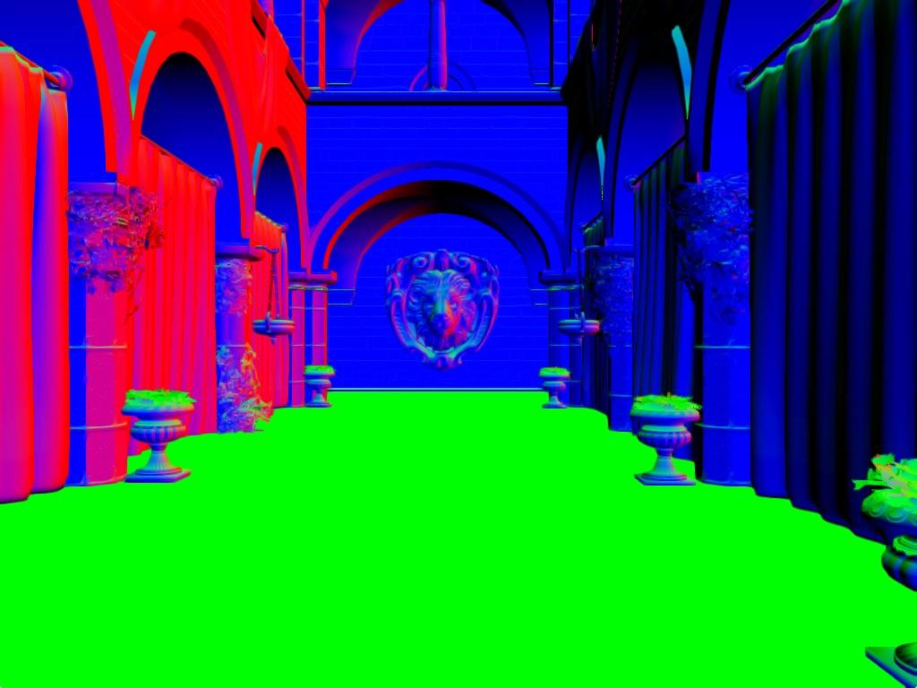 ao-normals-sample | Screen space ambient occlusion с учетом нормалей и расчет одного отражения света.
