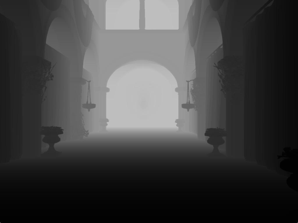 ao-depth-sample | Screen space ambient occlusion с учетом нормалей и расчет одного отражения света.