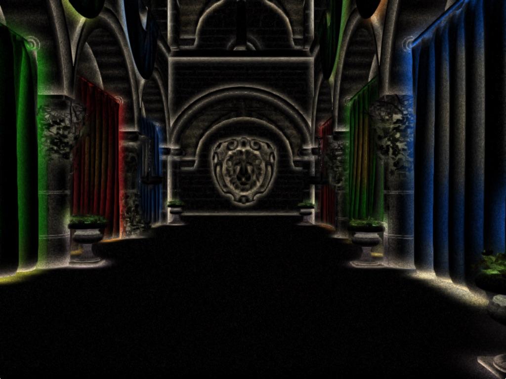 ao-bounce | Screen space ambient occlusion с учетом нормалей и расчет одного отражения света.