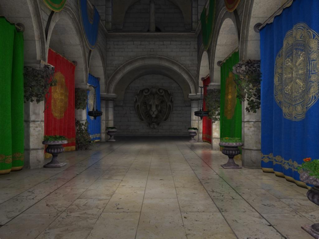 ao-demo-final | Screen space ambient occlusion с учетом нормалей и расчет одного отражения света.