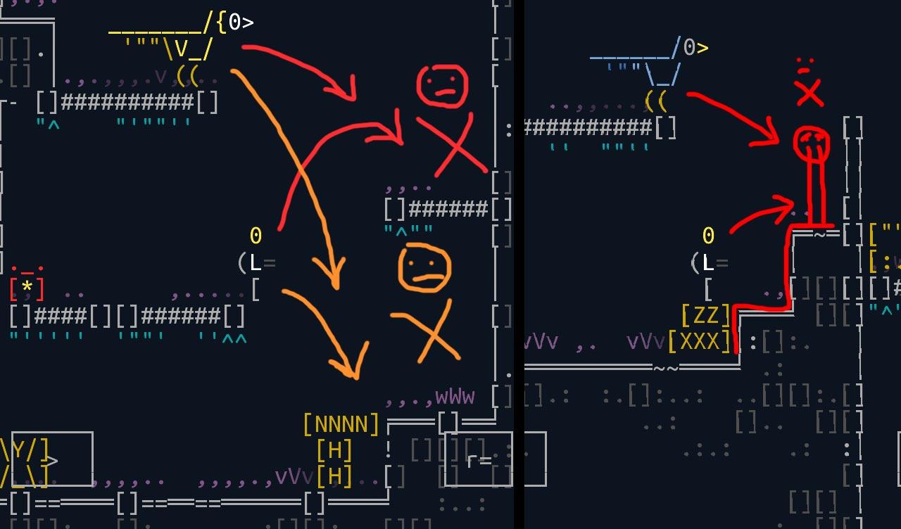 Screenshot_2019-09-19-19-26-54 | Unsigned Character  0.6.1 [ASCII-art платформер с процедурной генерацией]