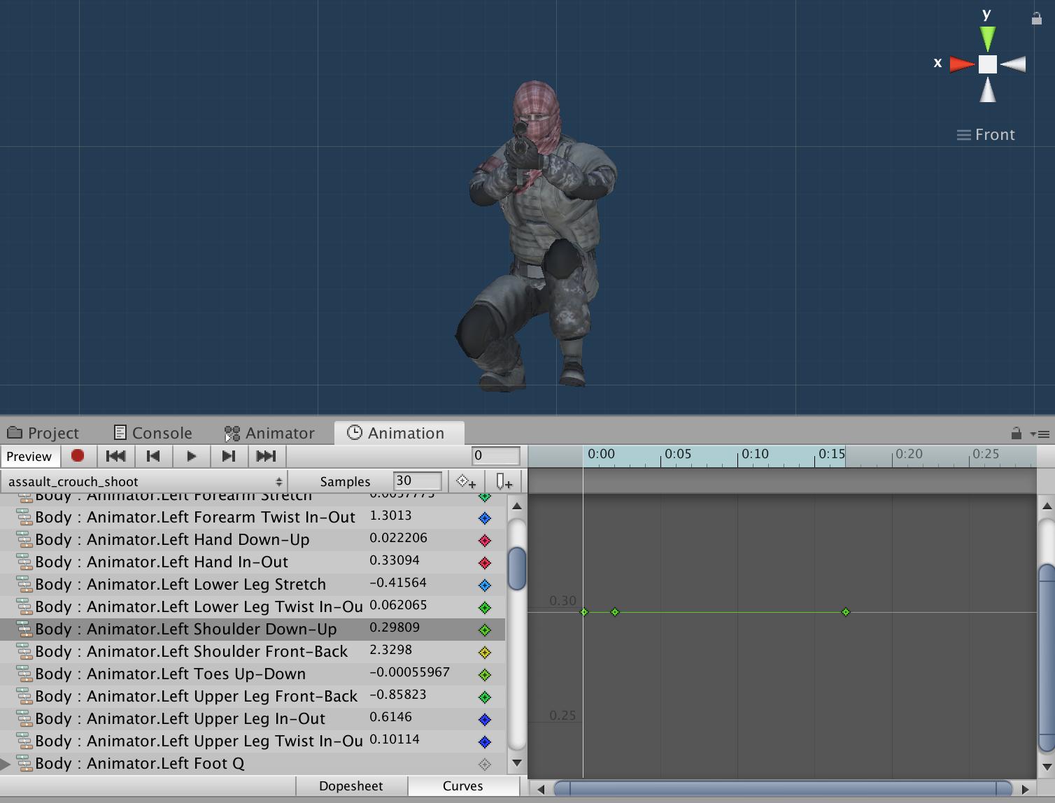 4   Коррекция анимации для другой 3D-модели