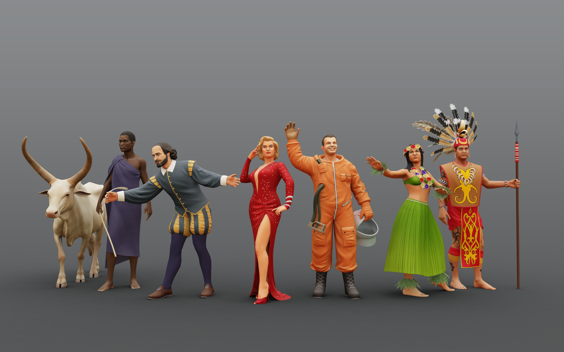 sergey-abanin-people-low-poly | 3d artist