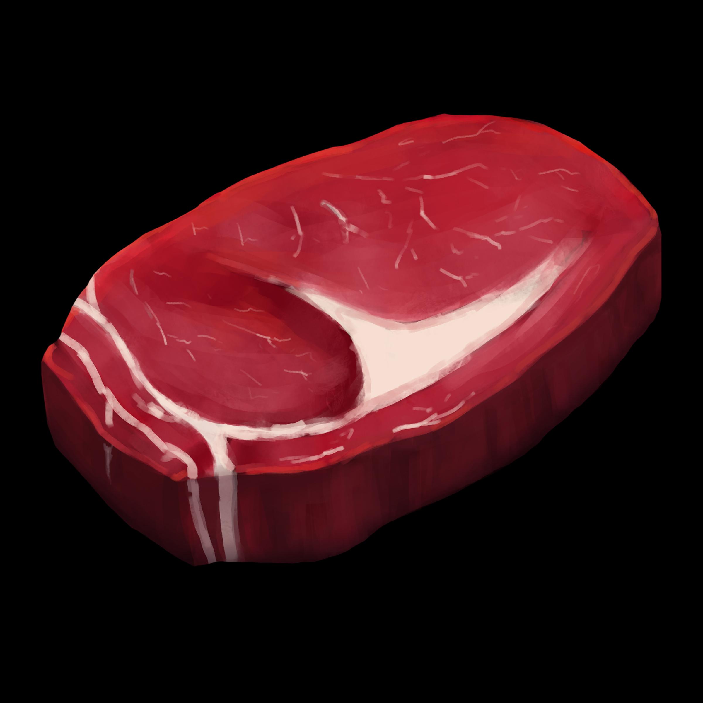 Сырое мясо Говядина | 2D CG, нужна критика и советы.