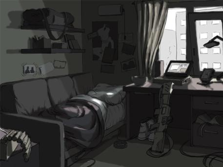 скетч комнаты бойца | История 2d-художника (от набросков до...)