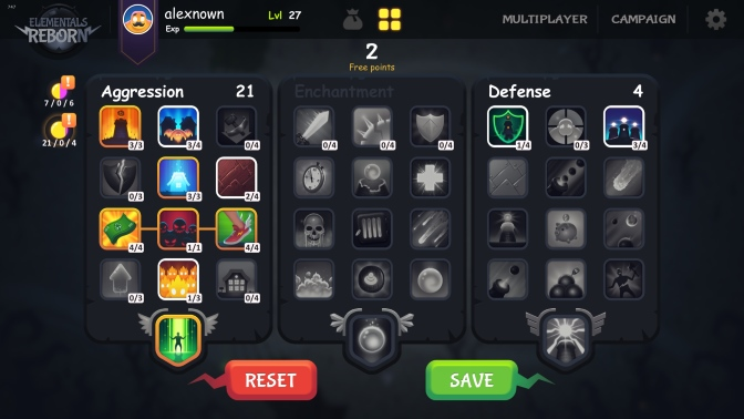 Elementals Reborn skill tree | Elementals Reborn