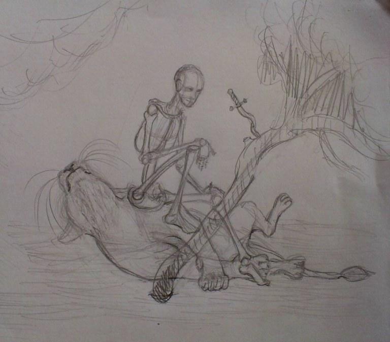 sktchch | Maltakreuz рисует львиц и не только