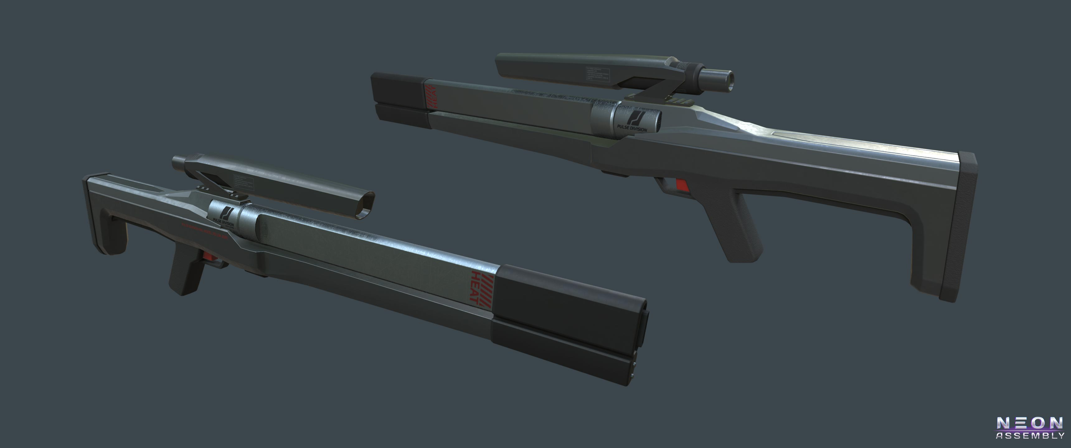 NA Laser sniper rifle. | NEON ASSEMBLY. A competetive multiplayer turn based tactics game.