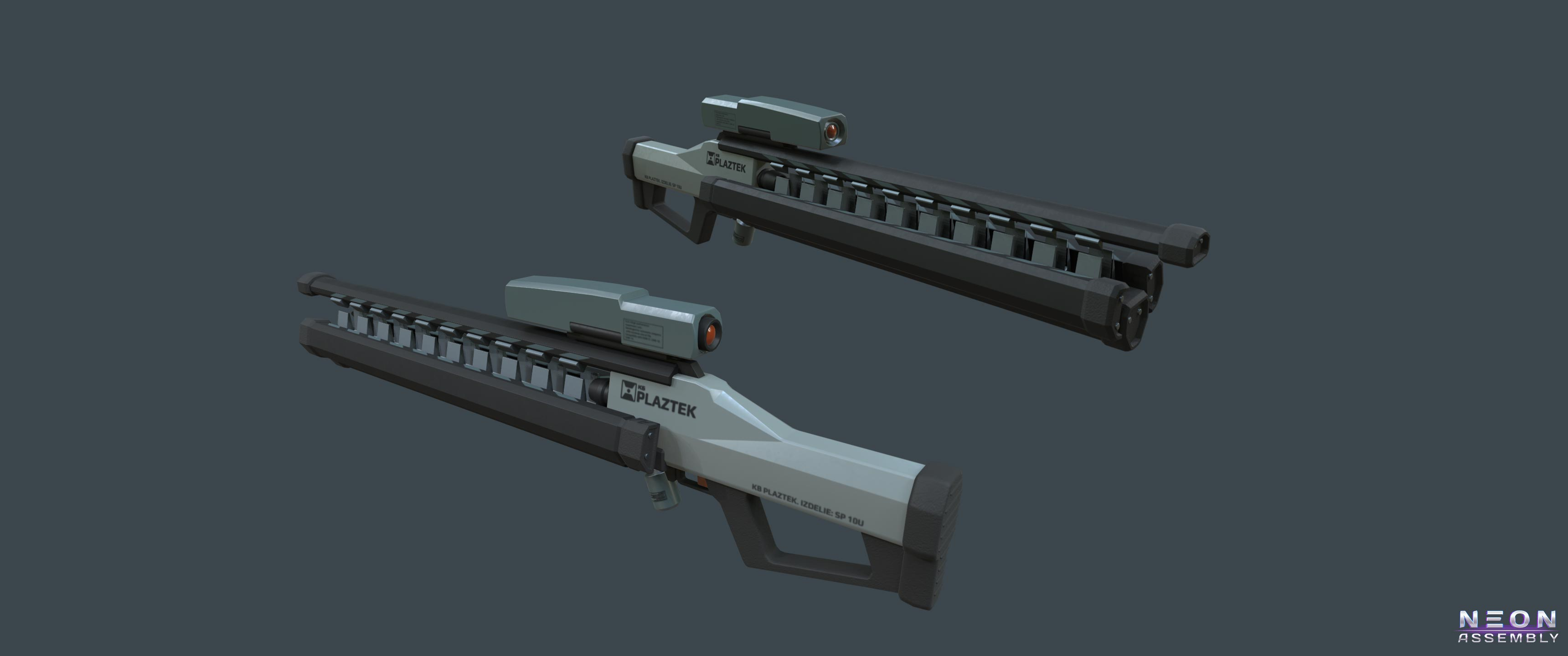 Plasma Sniper Rifle | NEON ASSEMBLY. A competetive multiplayer turn based tactics game.