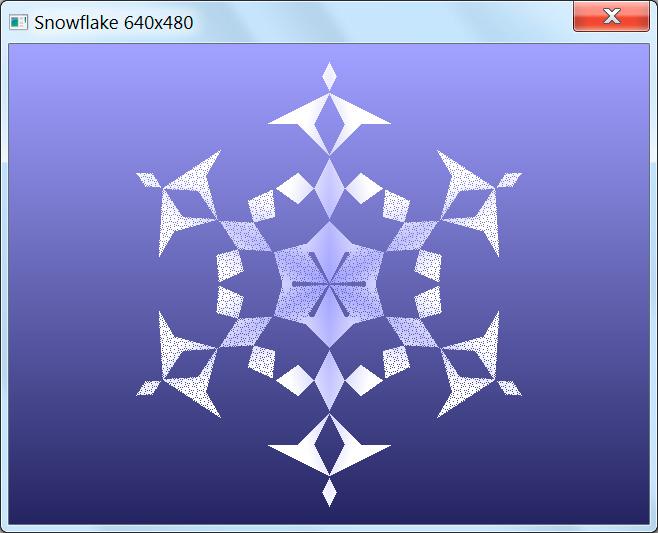 Snowflake на Новогодний конкурс 4 Кб графика