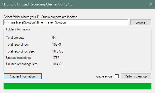 soft2 | Утилита для удаления неиспользуемых файлов записей проектов FL Studio