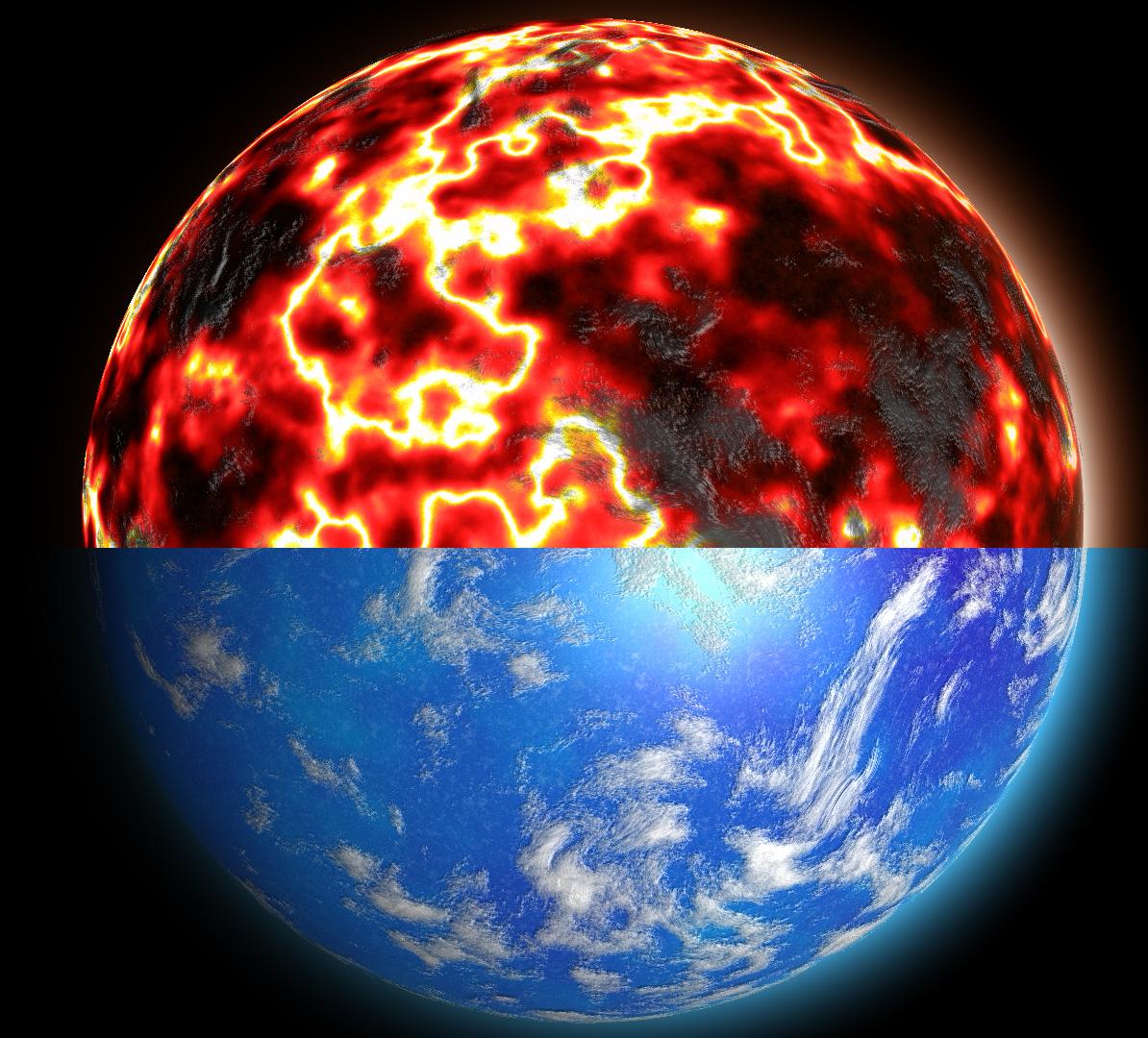 sphere_perlin_noise005 | Текстура планеты. Хотел как лучше...
