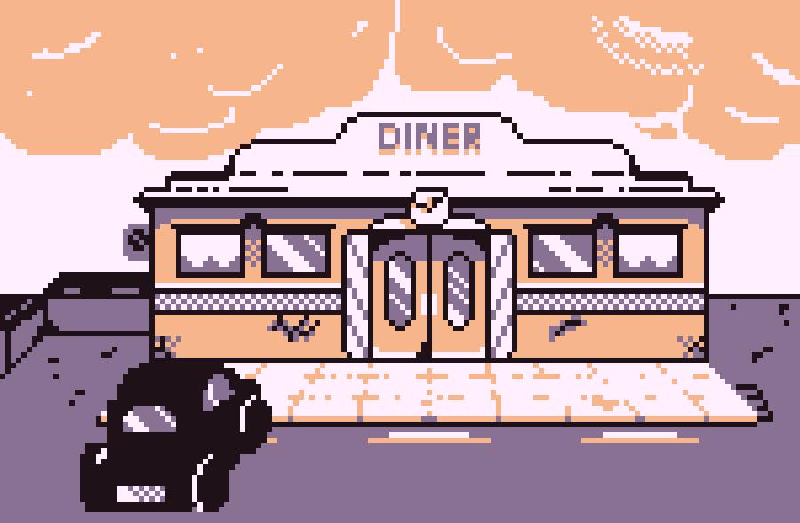 Diner-PixelArt   Pixel-Art Journey