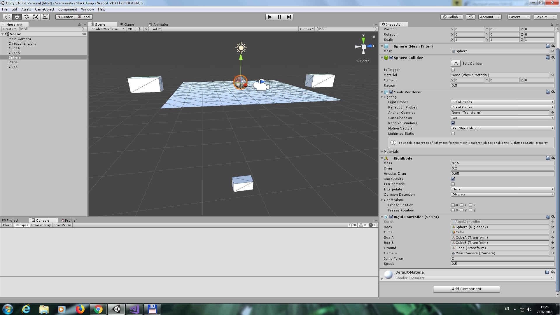stack_jump | Обычная проблема новичка при создании игры