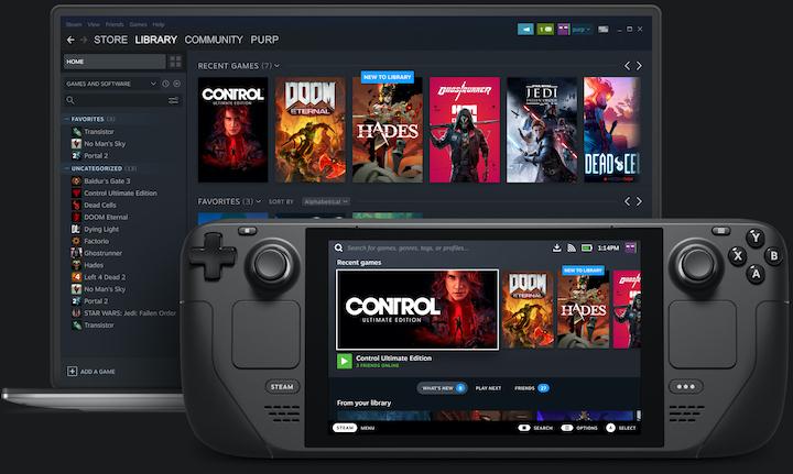Steam Deck   Компания Valve представила игровую консоль Steam Deck.